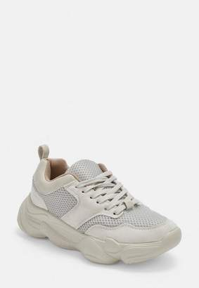 Missguided Nude Chunky Sole Sneakers