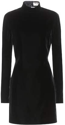 Saint Laurent Backless velvet minidress