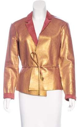 Henry Beguelin Leather Iridescent Jacket