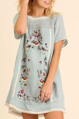 Umgee USA Bohemian Embroidery Dress