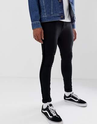 New Look super skinny jeans with velvet side stripe