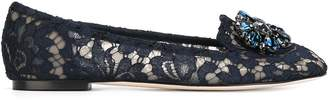 Dolce & Gabbana Lace Slippers