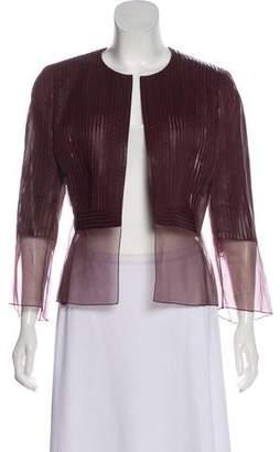 Akris Leather Evening Jacket