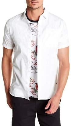 Tavik Porter Print Poplin Short Sleeve Slim Fit Woven Shirt
