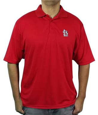 MLB St Louis Cardinals Men's poly polo shirt