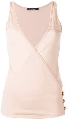 Balmain wrap front vest top