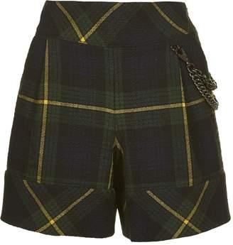 Moschino Tartan Patterned Shorts