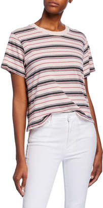 XiRENA Jess Striped Short-Sleeve Cotton T-Shirt