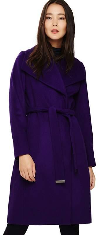 Purple Nicci Belted Coat