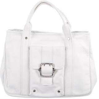 Longchamp Leather Buckle Handle Tote