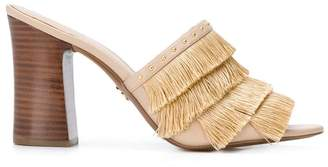 MICHAEL Michael Kors Gallagher fringed mules