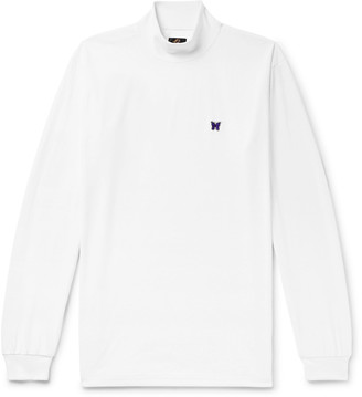 Needles Tech-Jersey Mock Neck T-Shirt