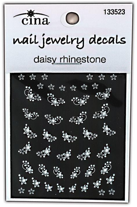 Cina Nail Creations Art Jewelry Decals Ice Sparkles Rhinestones