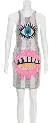 Discount Universe Sequined Mini Dress Multicolor Discount Universe Sequined Mini Dress