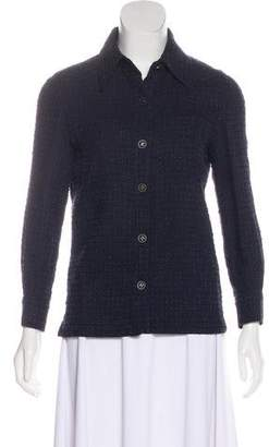 Chanel Tweed Button-Up Top