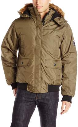 English Laundry Men's Bomber Jacket with Hood