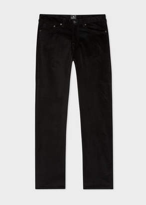 Paul Smith Men's Tapered-Fit Black Corduroy Pants