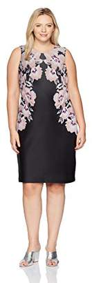 Calvin Klein Women's Plus Size Printed Scuba Sheath Dress