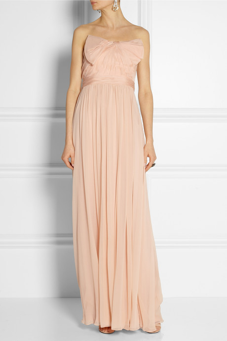 Notte by Marchesa Silk-organza and chiffon gown