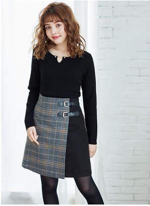 INGNI (イング) - INGNI ベルト付チェック柄台形/スカート