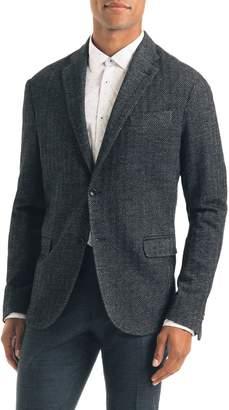Good Man Brand Uptown Trim Fit Herringbone Cotton Blend Sport Coat