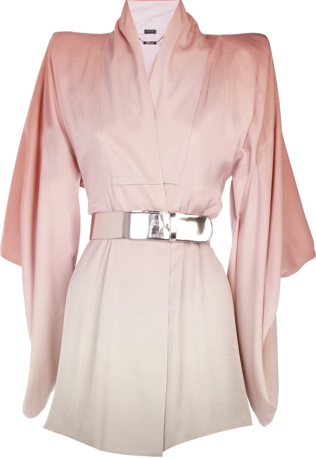 Alexander McQueen Kimono degrade mini dress