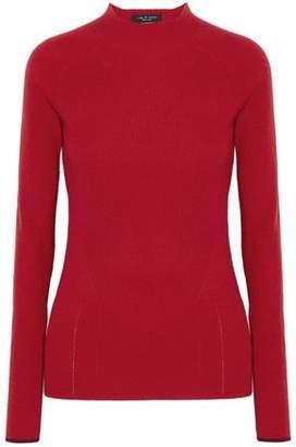 Rag & Bone Natasha Pointelle-Trimmed Ribbed Cashmere Sweater