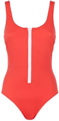 Solid & Striped Anne-Marie Zip-Up Swimsuit