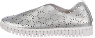 Ilse Jacobsen Metallic Leather Slip-On Sneakers