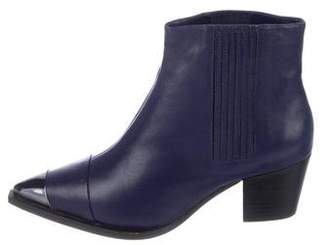 Halston Leather Ankle Boots