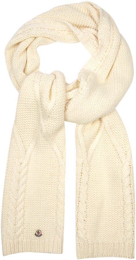 MonclerMONCLER Cable-knit scarf