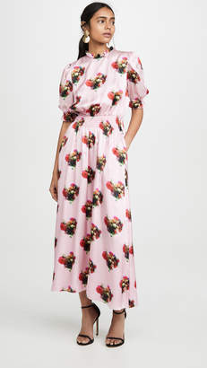 ADAM by Adam Lippes Floral Smocked Dress
