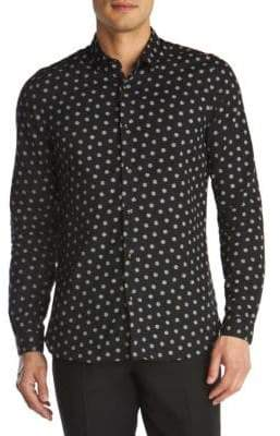 The Kooples Dotted Cotton Sport Shirt