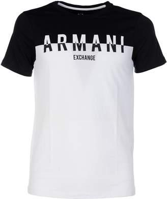 Armani Collezioni Sliced Logo T-shirt