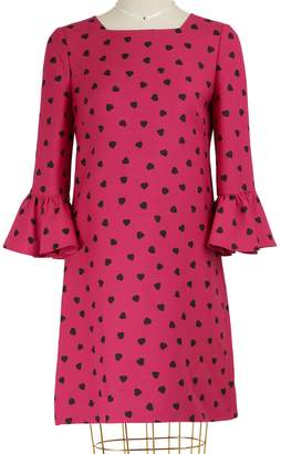 Valentino Heart printed dress