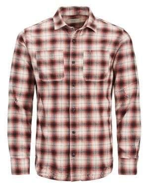 Jack and Jones Ethan Plaid Button-Down Shirt