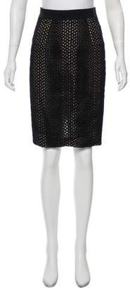 Giambattista Valli Eyelet Knee-Length Skirt