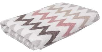 EIGHTMOOD Havana Set of 4 Zigzag Stripe Towels - Pink