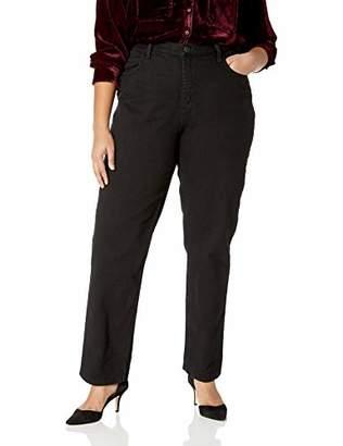 Lee Indigo Women's Plus Size Camden Relaxed Fit 5 Pocket Jean