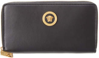 Versace Medusa Tribute Leather Zip Around Wallet