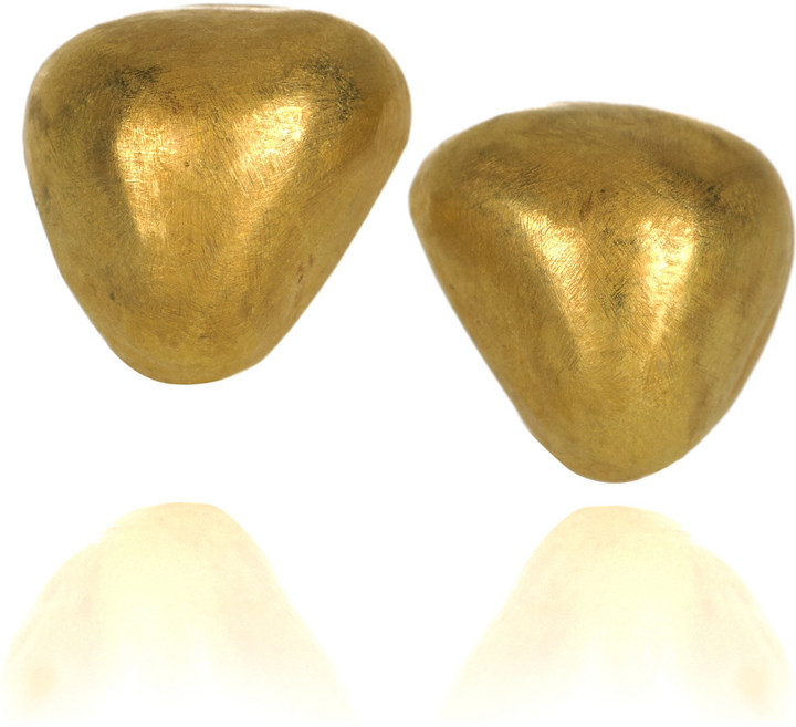 Halleh 18-karat gold Pillow earrings
