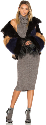 One Teaspoon Rio Grande Le Crop Faux Fur Jacket $429 thestylecure.com