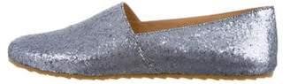 MM6 MAISON MARGIELA Glitter Round-Toe Flats w/ Tags