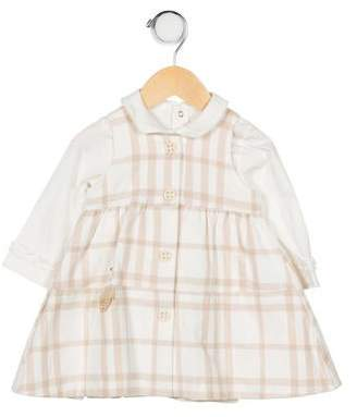 Catimini Girls' Plaid Dress Set
