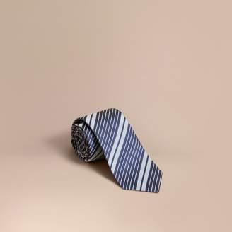 Burberry Modern Cut Striped Silk Cotton Jacquard Tie $195 thestylecure.com