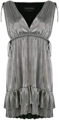 Christian Pellizzari metallic ruffle mini dress