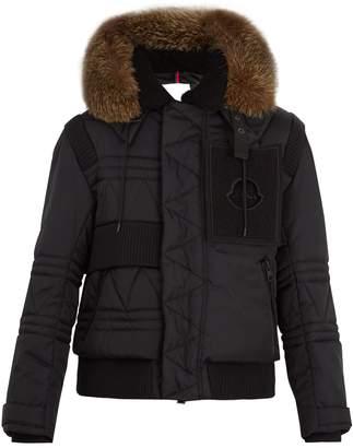 Moncler X Craig Green Connor fur-trimmed down jacket