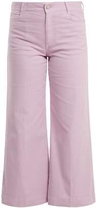 Stella McCartney Wide-leg cropped jeans