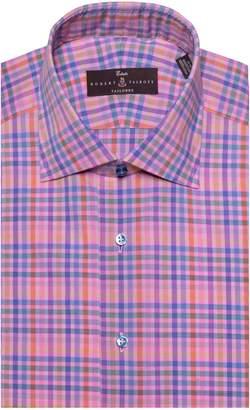 Robert Talbott Tailored Fit Plaid Dress Shirt