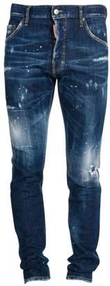 DSQUARED2 Cool Guy Under Patch Splatter Jeans